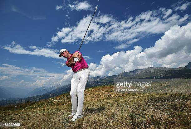 Wade Ormsby of Australia poses for a picture prior to the start of the Omega European Masters at CranssurSierre Golf Club on July 22 2015 in...