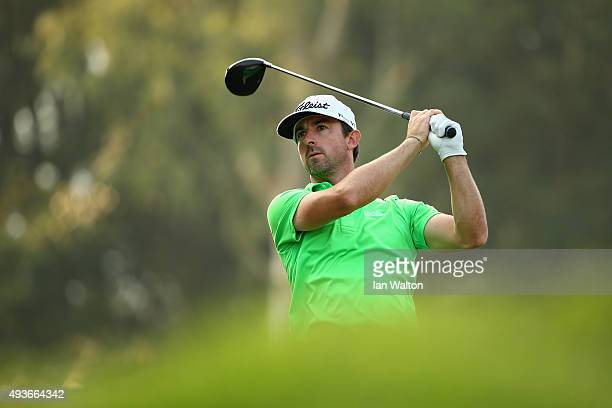 Wade Ormsby of Australia tees off on the 14th during the first round of the UBS Hong Kong Open at The Hong Kong Golf Club on October 22 2015 in Hong...