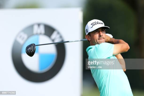 Wade Ormsby of Australia tees off on the 6th hole during day one of the BMW International Open at Golfclub Munchen Eichenried on June 22 2017 in...