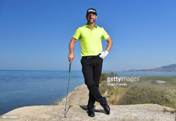 Wade Ormsby of Australlai poses for a picture during practice prior to the start of The Rocco Forte Open at Verdura Golf and Spa Resort on May 17...