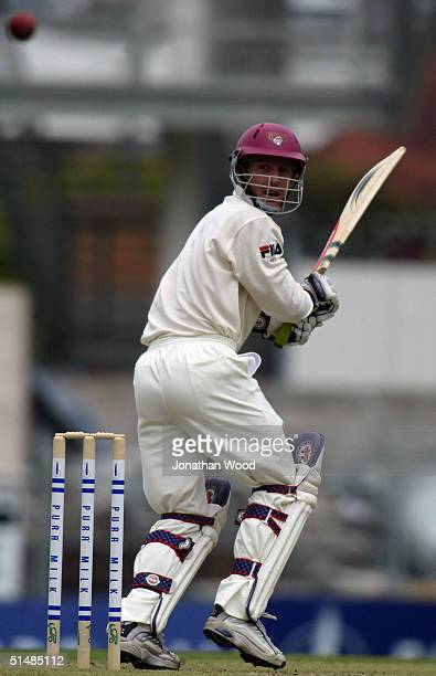 Wade Seccombe of the Bulls in action during day two of the Pura Cup match between the Queensland Bulls and New South Wales Blues at the Gabba October...