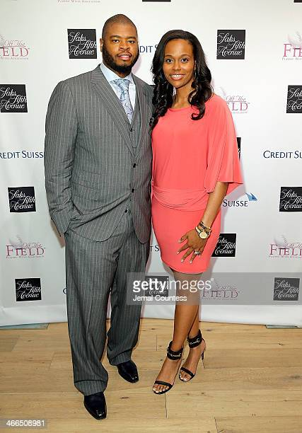 Wade Smith and Chareta Smith attend the Saks Fifth Avenue And Off The Field Players' Wives Association Charitable Fashion Show on January 31 2014 in...