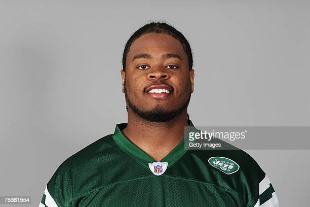 Wade Smith of the New York Jets poses for his 2007 NFL headshot at photo day in East Rutherford New Jersey