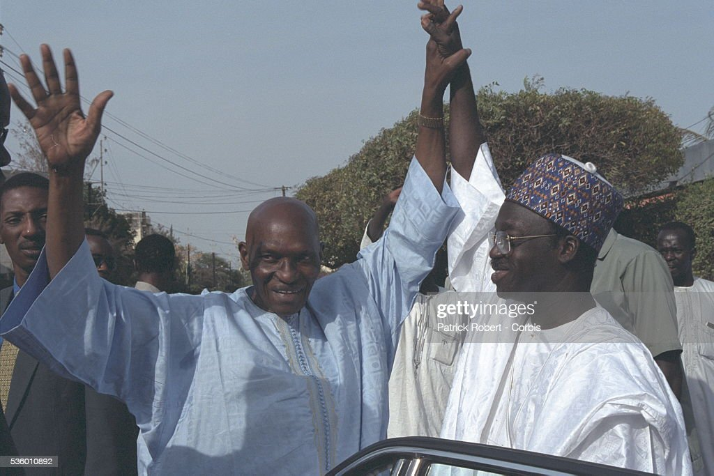 ABDOULAYE WADE ON THE CAMPAIGN TRAIL : Nyhetsfoto