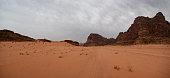 Mountains of Wadi Rum, Aqaba Province, Jordan, Middle East