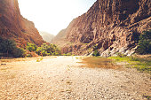 beautiful wadi al shab in oman.