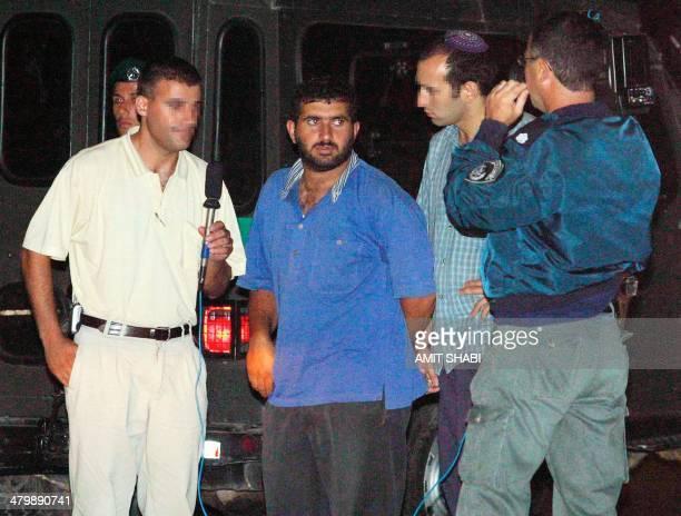 Wael Kassem the alleged leader of a Hamas cell made up of Palestinians living in east Jerusalem is filmed by Israeli Shin Bet internal security...
