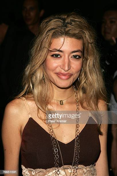 Wafah Dufour niece of Osama Bin Laden attends the Marc Jacobs 2008 Fashion Show at the NY Armory during the MercedesBenz Fashion Week Spring 2008 on...