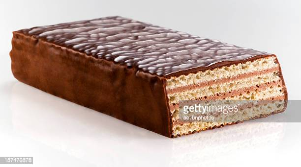 Wafer of dark chocolate