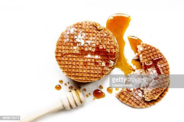 Waffle with caramel