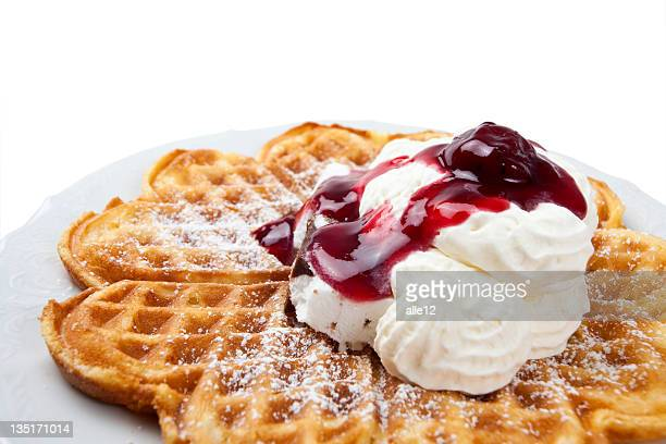 Waffle with cream