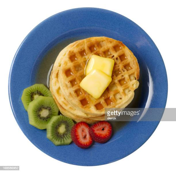 Waffles with Fruit and Syrup