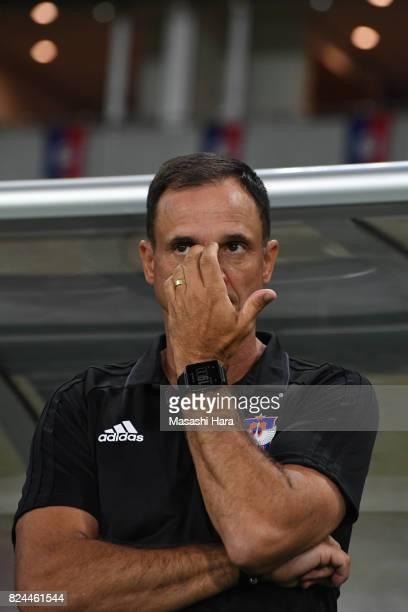 Wagner Lopescoach of Albirex Niigata looks on prior to the JLeague J1 match between FC Tokyo and Albirex Niigata at Ajinomoto Stadium on July 30 2017...