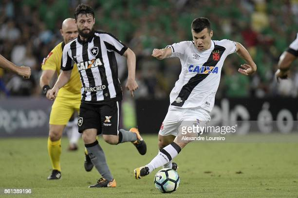 Wagner of Vasco da Gama battles for the ball with João Paulo of Botafogo during the match between Vasco da Gama and Botafogo as part of Brasileirao...