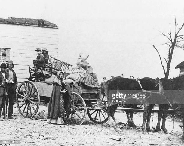 Wagon loaded with belongings of a Civil War refugee family Undated photograph