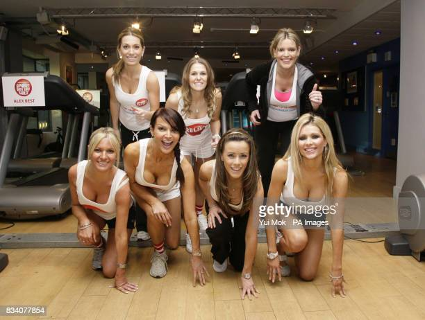 WAGs Melissa Johnson Jude Cisse and Jadene Bircham Alex Best Lizzie Cundy Nicola T and Nicola McLean take part in the Sport Relief Run A Mile event...