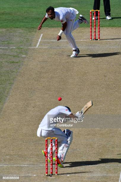 Wahab Riaz of Pakistan bowls on Dinesh Chandimal of Sri Lanka during the second day of the second Test cricket match between Sri Lanka and Pakistan...