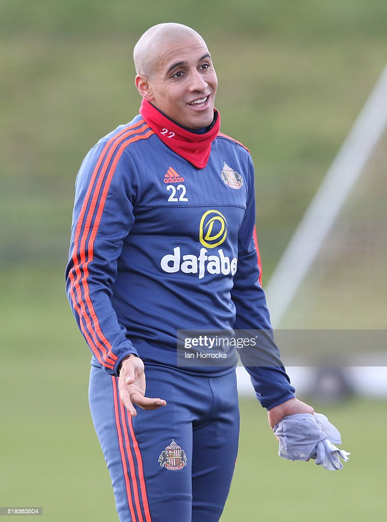 <a gi-track='captionPersonalityLinkClicked' href=/galleries/search?phrase=Wahbi+Khazri&family=editorial&specificpeople=7211185 ng-click='$event.stopPropagation()'>Wahbi Khazri</a> during a Sunderland training session at the Academy of Light on March 31, 2016 in Sunderland, England.