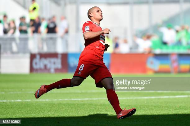 Wahbi Khazri of Rennes during the Ligue 1 match between AS Saint Etienne and Stade Rennais at Stade Geoffroy Guichard on September 24 2017 in Saint...