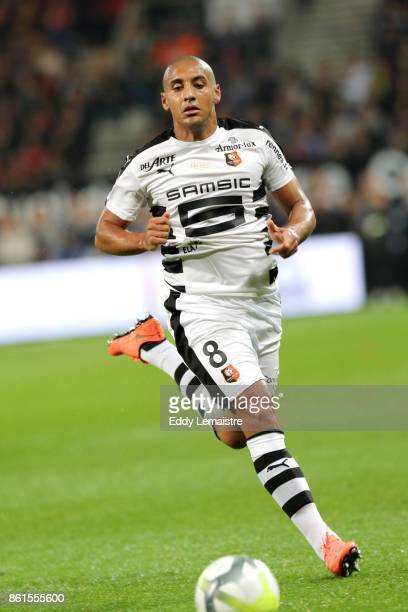 Wahbi Khazri of Rennes during the Ligue 1 match between EA Guingamp and Stade Rennais at Stade du Roudourou on October 14 2017 in Guingamp