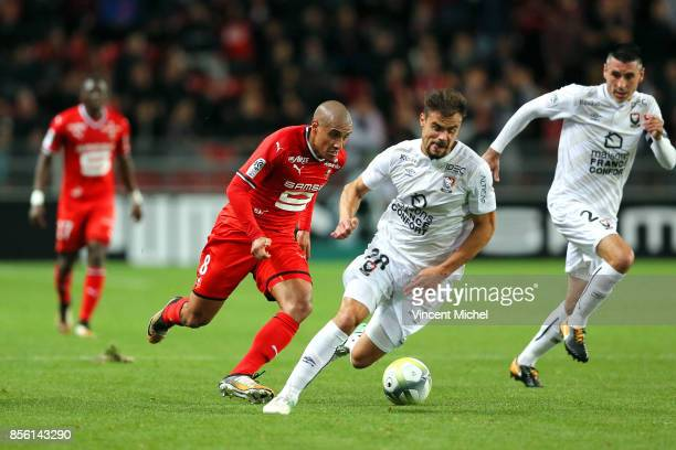 Wahbi Khazri of Rennes during the Ligue 1 match between Stade Rennais and SM Caen at Roazhon Park on September 30 2017 in Rennes