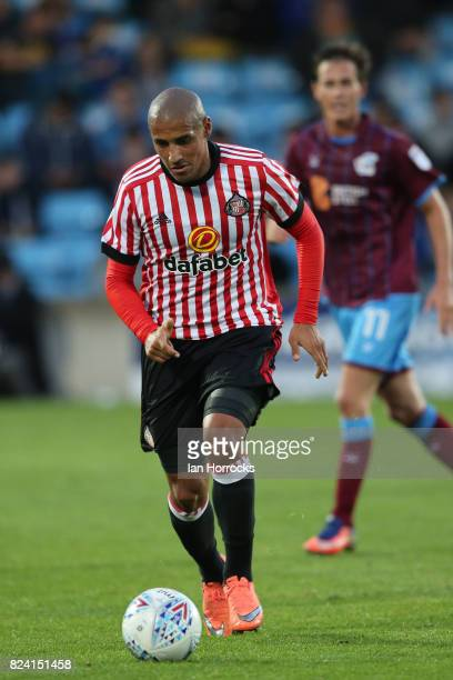 Wahbi Khazri of Sunderland during a preseason friendly match between Scunthorpe United and Sunderland AFC at Glanford Park on July 26 2017 in...