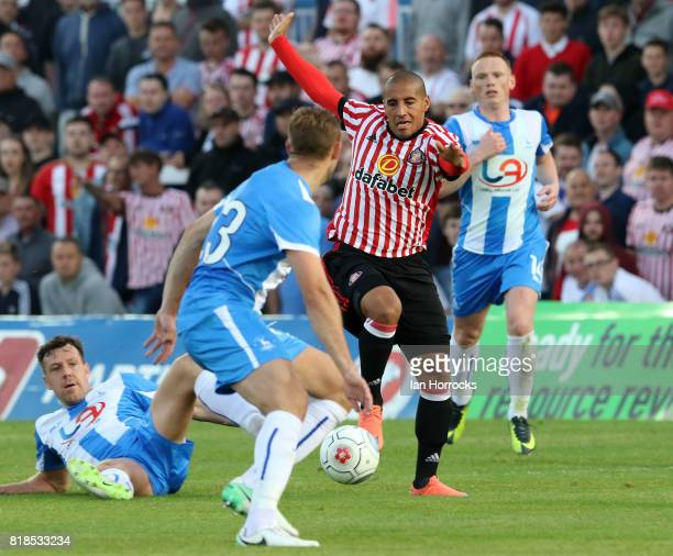 Wahbi Khazri of Sunderland during the preseason friendly match between Sunderland and Hartlepool at Victoria Park on July 18 2017 in Hartlepool...