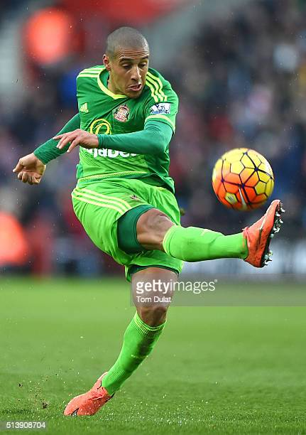 Wahbi Khazri of Sunderland in action during the Barclays Premier League match between Southampton and Sunderland at St Mary's Stadium on March 5 2016...
