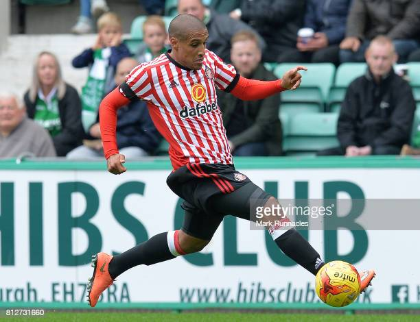 Wahbi Khazri of Sunderland in action during the pre season friendly between Hibernian and Sunderland at Easter Road on July 9 2017 in Edinburgh...
