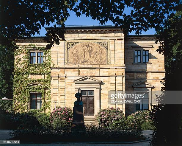 Wahnfried Richard Wagner and his wife Cosima's villa in Bayreuth which is now a museum dedicated to the musician Bayreuth Germany Bayreuth...