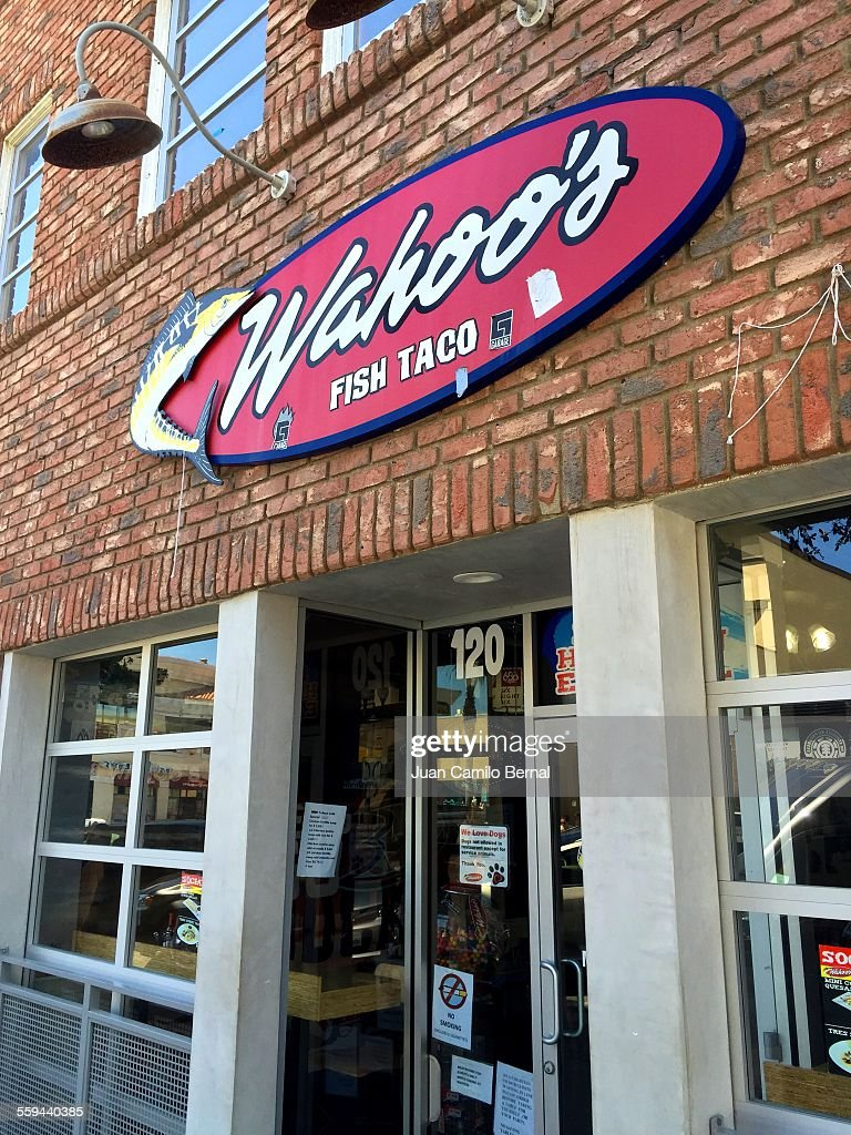 Huntington beach california stock photos and pictures getty images - Wahoos Fish Taco Restaurant A Classic California Surfer Favorite In Huntington Beach California