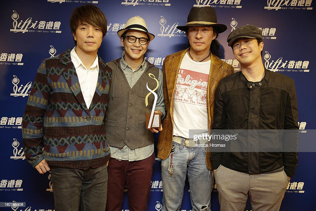 Wai, No.6, Clem, and Laimaan of 'Rubberband' attend the 2013 IFPI Hong Kong Top Sales Music Awards at Star Hall on February 26, 2013 in Hong Kong, Hong Kong.