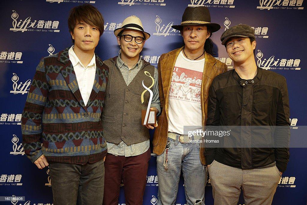 Wai, No.6, Clem, and Laimaan of 'Rubberband' attend the 2013 IFPI Hong Kong Top Sales Music Awards at Star Hall on February 26, 2013 in Hong Kong, Hong Kong.