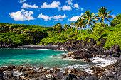 Waianapanapa State Park, Maui black sand beach