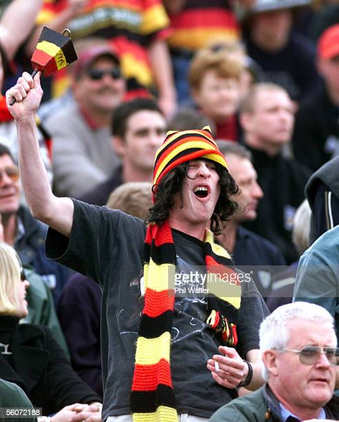Waikato fans cheer on their team during the Air New Zealand NPC Ranfurly Shield challenge match between Waikato and Northland at Rugby Park Saturday...