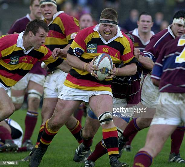 Waikato's Paul Martin on the charge against Southland in the Ranfurly Shield Air New Zealand 1st division NPC match at Rugby Park Hamilton Saturday...
