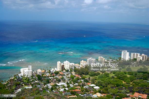Waikiki and hotels at coast