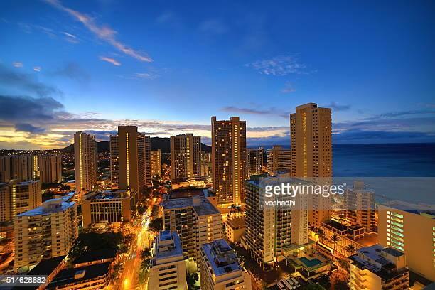 Waikiki Beach before sunrise