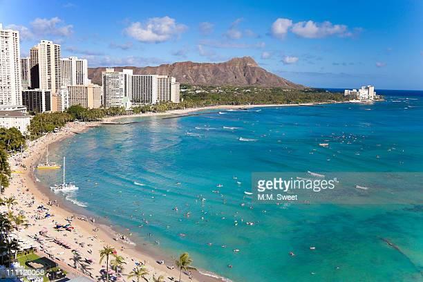 Waikiki beach diamond head Hawaii