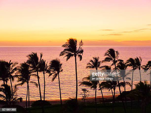 USA, Hawaii, Wailea Pastel Colors Sunset
