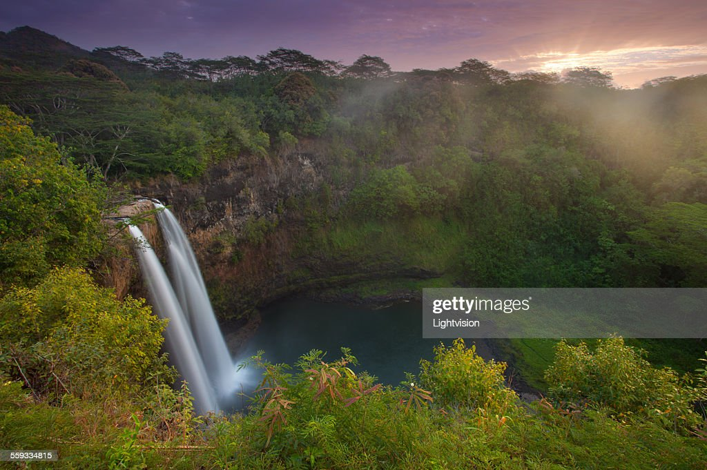 Wailua Falls in Kauai, Hawaii
