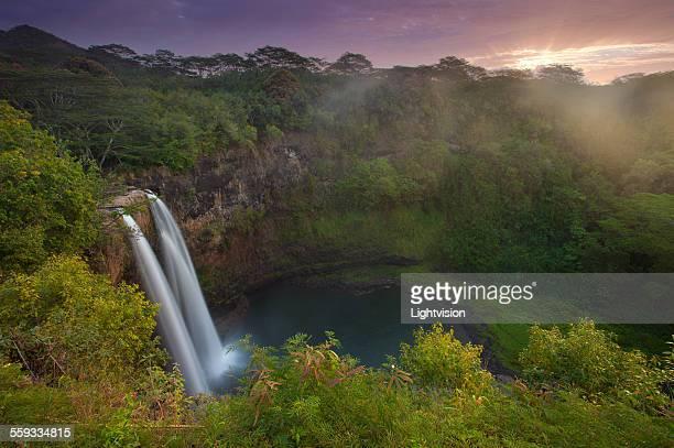 Wailua Falls in Kauai, Hawaii