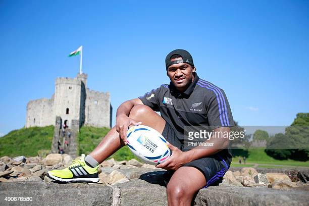 Waisake Naholo of the All Blacks poses during a portrait session at the Cardiff Castle on September 30 2015 in Cardiff United Kingdom