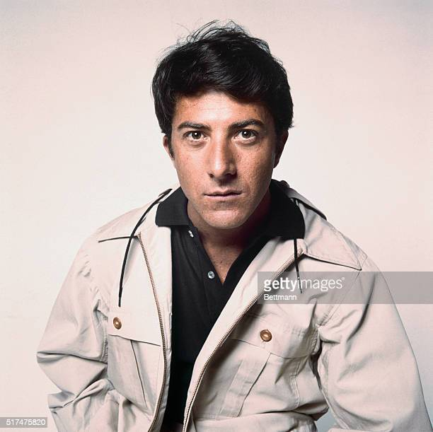 A waistlength shot of actor Dustin Hoffman as he appeared in The Graduate