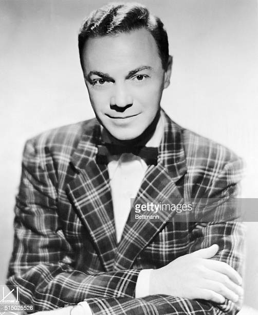 Waistup portrait of legendary disc jockey Alan Freed Freed was the first person to utter the phrase 'rock and roll' for the new musical sounds...
