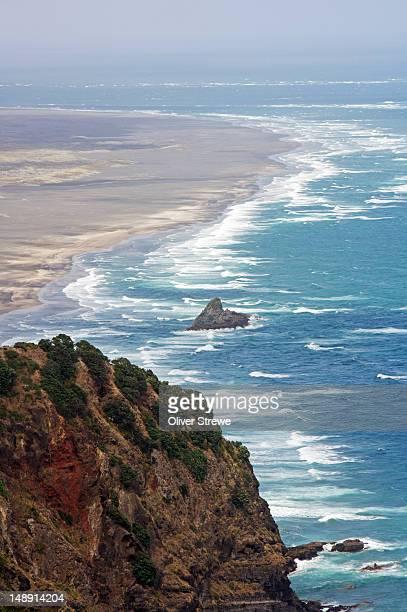 Waitakere Ranges and Tasman sea.