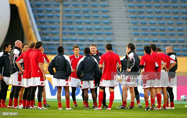 Waitakere United Chris Milicich coach and teamplayer in action during the official training session at the National Stadium on December 10 2008 in...
