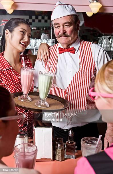 Waiter At Soda Shop