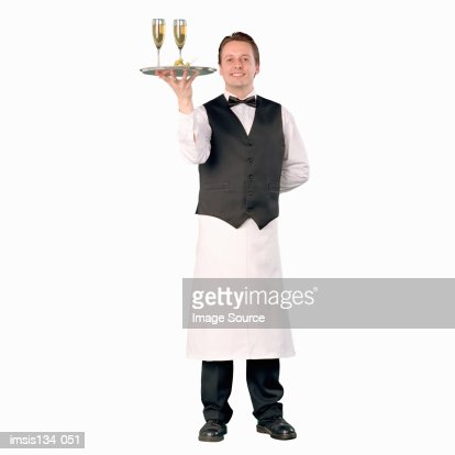 portrait of a waiter stock photo getty images