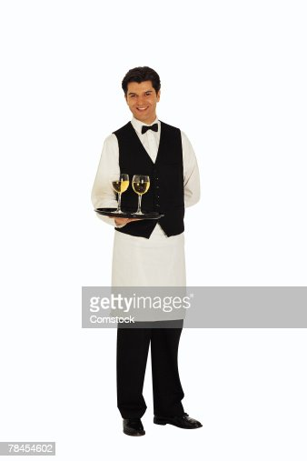 waiter serving wine stock photo getty images